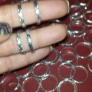 75 pc Bright Silvertone Rings Thin bands that open for Craft Ring Making
