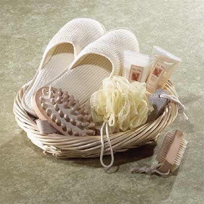 Vanilla Themed Spa Basket