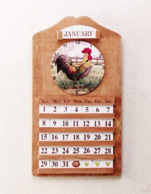 Country Squire Clock and Calendar