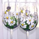 White Daisy Stemware
