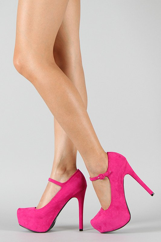 Pink Mary Jane Pumps