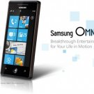 "Samsung i8700 Omnia 7 Windows 7 Smartphone Unlocked - 4"" Touch Screen 5MP Camera - 8GB Memory"