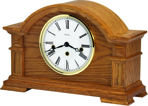Bulova Manor Elongated Arch Mantel Clock B1815