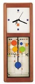 "Bulova C3321 Frank Lloyd Wright ""Coonley Playhouse"" Wall Clock"