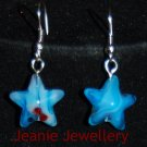 Light Blue Star Earrings