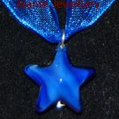 Blue Star Pendant and Earrings Set