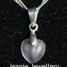 Purple Heart Pendant with Silver Plated Chain