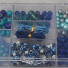 Blue Tray Glass Beads Kit