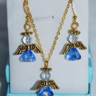 Set of Blue and gold Angels