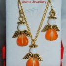 Set of orange Angels