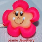 Bright Pink Biscuit Flower Hair Slide