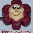 Wine Biscuit Flower Hair Slide
