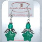 Green Angel Earrings
