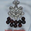 Garnet Gemstone Chandelier Earrings