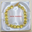 Gold Glass Bead Bracelet with Stardust