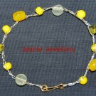Yellow Bracelet made in Crochet with Wire and Czech Glass Beads