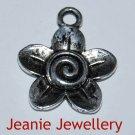 Flower Tibetan Silver Charm