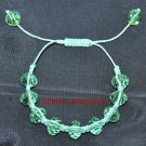 Green Shamballa Bracelet with Green Crystals
