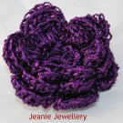 Purple Flower Brooch and Hair Clip