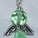 Green Angel Clip on Charm