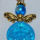 Light Blue and Gold Angel Bag Charm