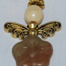 Brown and Cream Angel Bag Charm