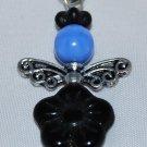 Black and Blue Angel Bag Charm
