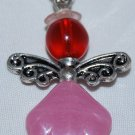 Red and Pink Angel Bag Charm