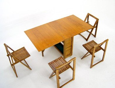 drop leaf table and folding chairs butterfly space