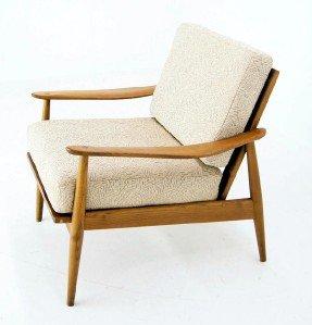Danish Mid Century Modern Lounge Chair New Upholstery