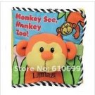 Lamaze baby toys zoo three-dimensional animal English cloth book children cloth book