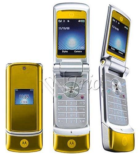 """Motorola KRZR K1 """"Gold"""" Mobile Cellular Phone (Unlocked)"""