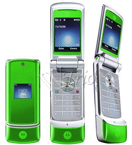 "Motorola KRZR K1 ""Green"" Mobile Cellular Phone (Unlocked)"