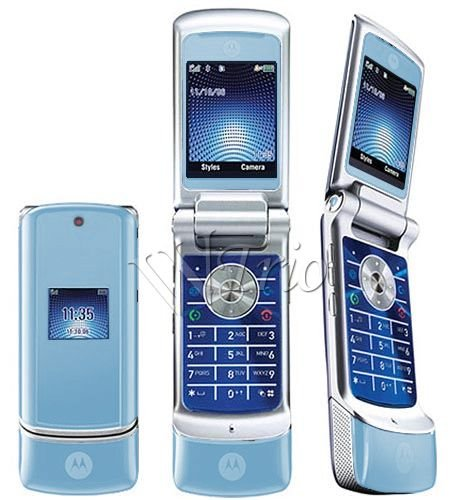 Motorola KRZR K1 SKY BLUE Mobile Cellular Phone (Unlocked)