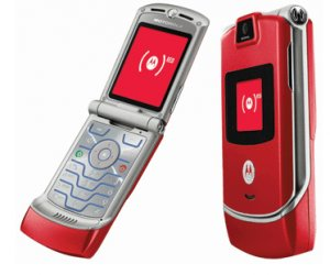 "Motorola V3 Razr ""Red"" Mobile Cellular Phone (Unlocked)"