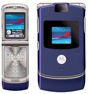 "Motorola V3 Razr ""Blue"" Mobile Cellular Phone (Unlocked)"
