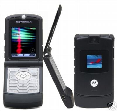 "Motorola V3 Razr ""Black"" Mobile Cellular Phone (Unlocked)"