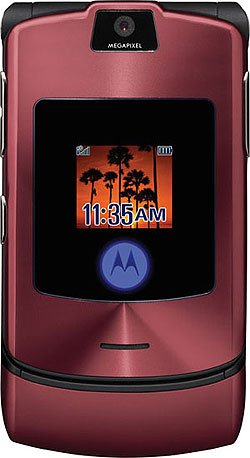 "Motorola RAZR V3i ""Maroon"" Mobile Cellular Phone (Unlocked)"