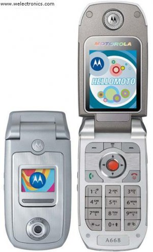 Motorola A668 Mobile Cellular Phone (Unlocked)