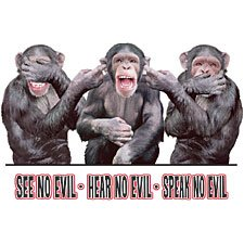 See Hear Speak Monkey