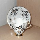 Clarence Bone China - Black and Gold - Cup and Saucer Set