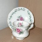 Rosina China Co Ltd. - Pink Rose Pattern - Cup and Saucer
