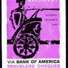 1960 BANK OF AMERICA Vintage ROME Print Ad