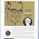 1960 ZENITH HEARING AID Vintage Print Ad