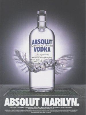 ABSOLUT MARILYN Vodka Print Ad