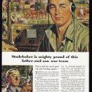 1945 STUDEBAKER WWII-Era Vintage Print Ad