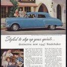 1946 STUDEBAKER Vintage Auto Print Ad