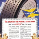 1938 GOODYEAR TIRES Vintage Print Ad