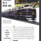 1944 GM DIESEL WWII Era Vintage Print Ad