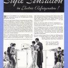 1934 G-E FREEZER Vintage Print Ad